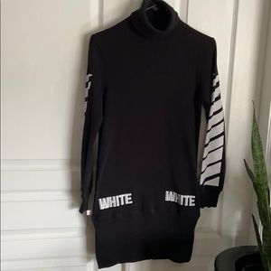 Off white Rollneck Dress